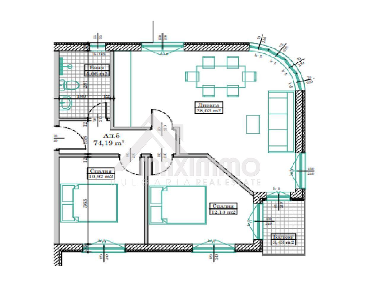 Изключително функционален тристаен апартамент! Виница! БДС